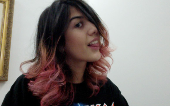 Gabi Rizental cabelo dip dye