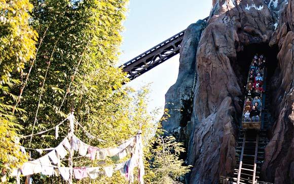 A montanha-russa Expedition Everest vai te apresentar a lenda do Yeti, ou Abominável Homem das Neves, que fica à espreita para atacar quem ousa se aventurar nos trilhos. Fica no parque Animal Kingdom, no Walt Disney World Resort, em Orlando.