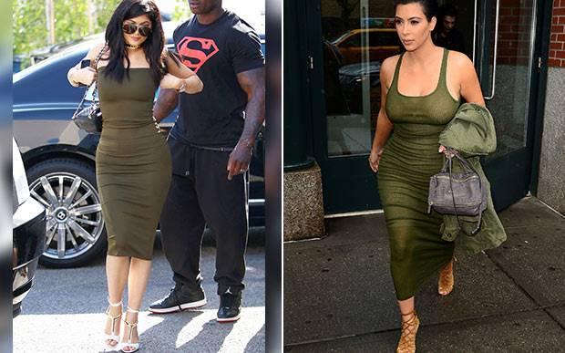 kylie-jenner-kim-kardashian-gemeas-looks-iguais