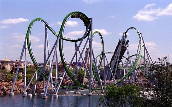 Junte o poder do Incrível Hulk e uma montanha-russa radical e você tem a The Incredible Hulk Coaster. Fica no parque Islands of Adventure, no Universal Orlando Resort, em Orlando.