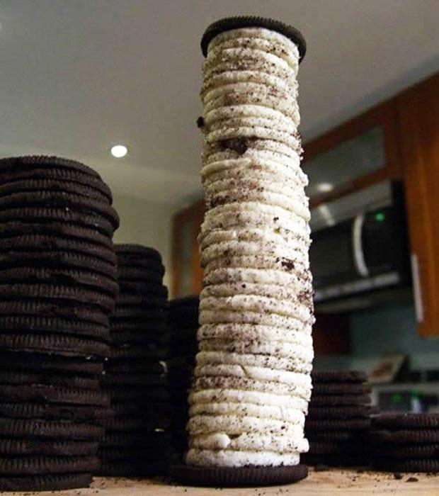 como comer biscoito recheado