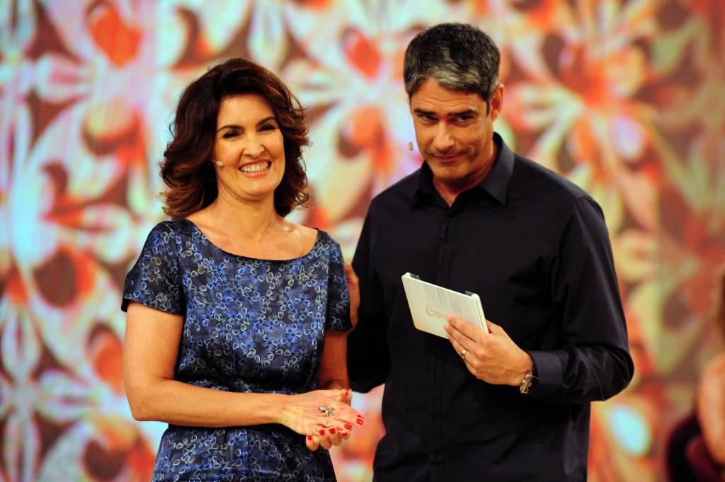 Fátima Bernardes e William Bonner, programa especial de aniversário da apresentadora, que completa 50 anos.