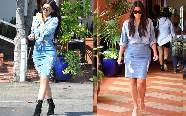 kylie-jenner-e-kim-kardashian-looks-iguais