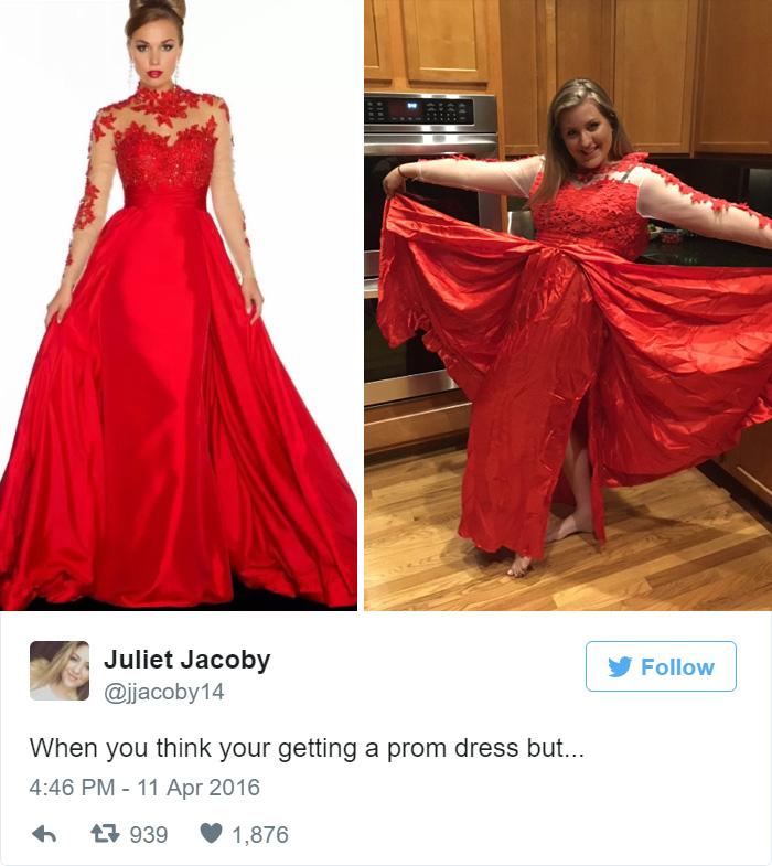 Triste! Esse deveria ser o vestido perfeito para a formatura :( Foto: