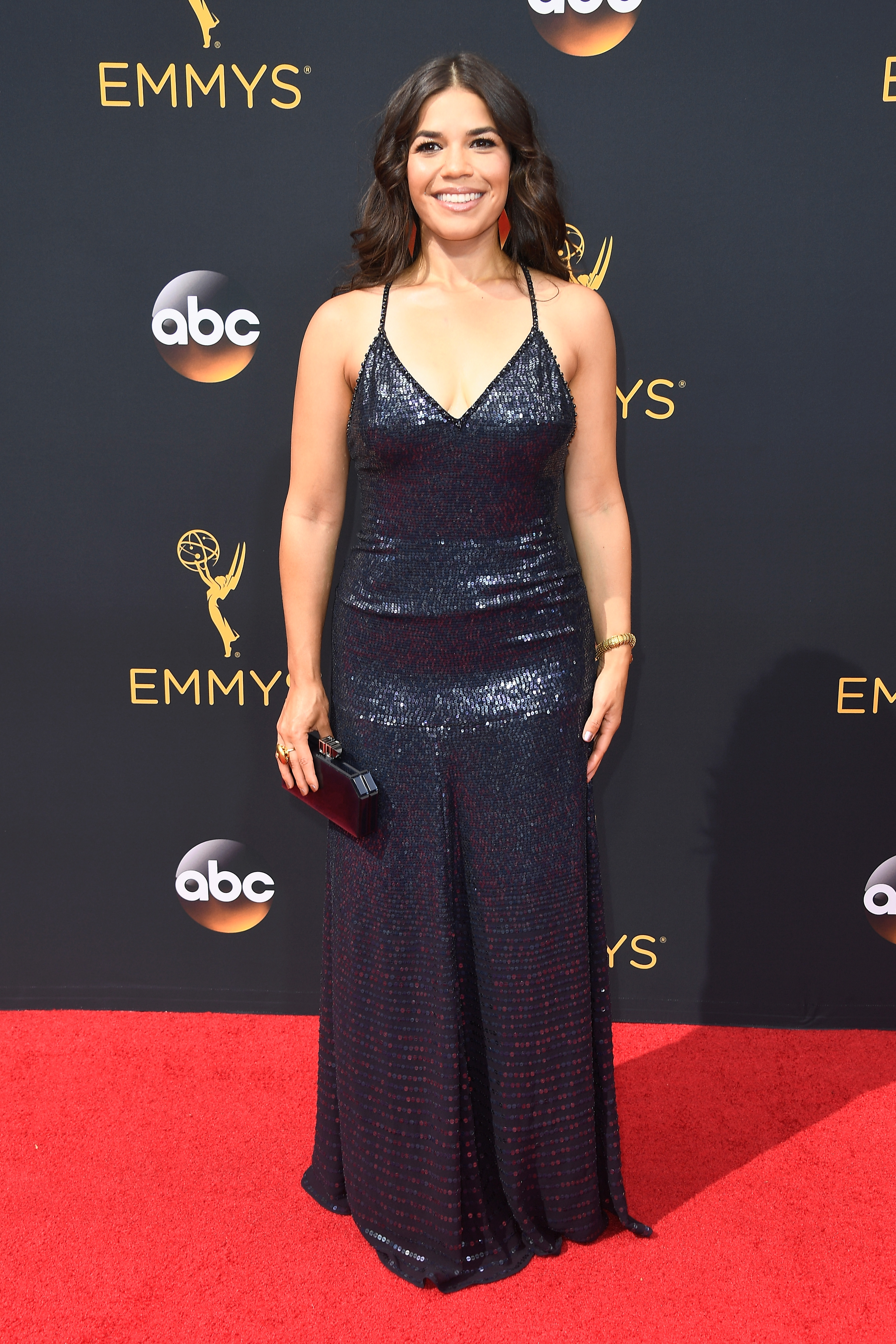 LOS ANGELES, CA - SEPTEMBER 18: Actress America Ferrera attends the 68th Annual Primetime Emmy Awards at Microsoft Theater on September 18, 2016 in Los Angeles, California. (Photo by Frazer Harrison/Getty Images)