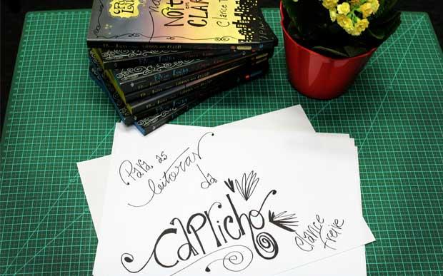 A Clarice ainda fez um desenho especial para as leitoras da Capricho <3