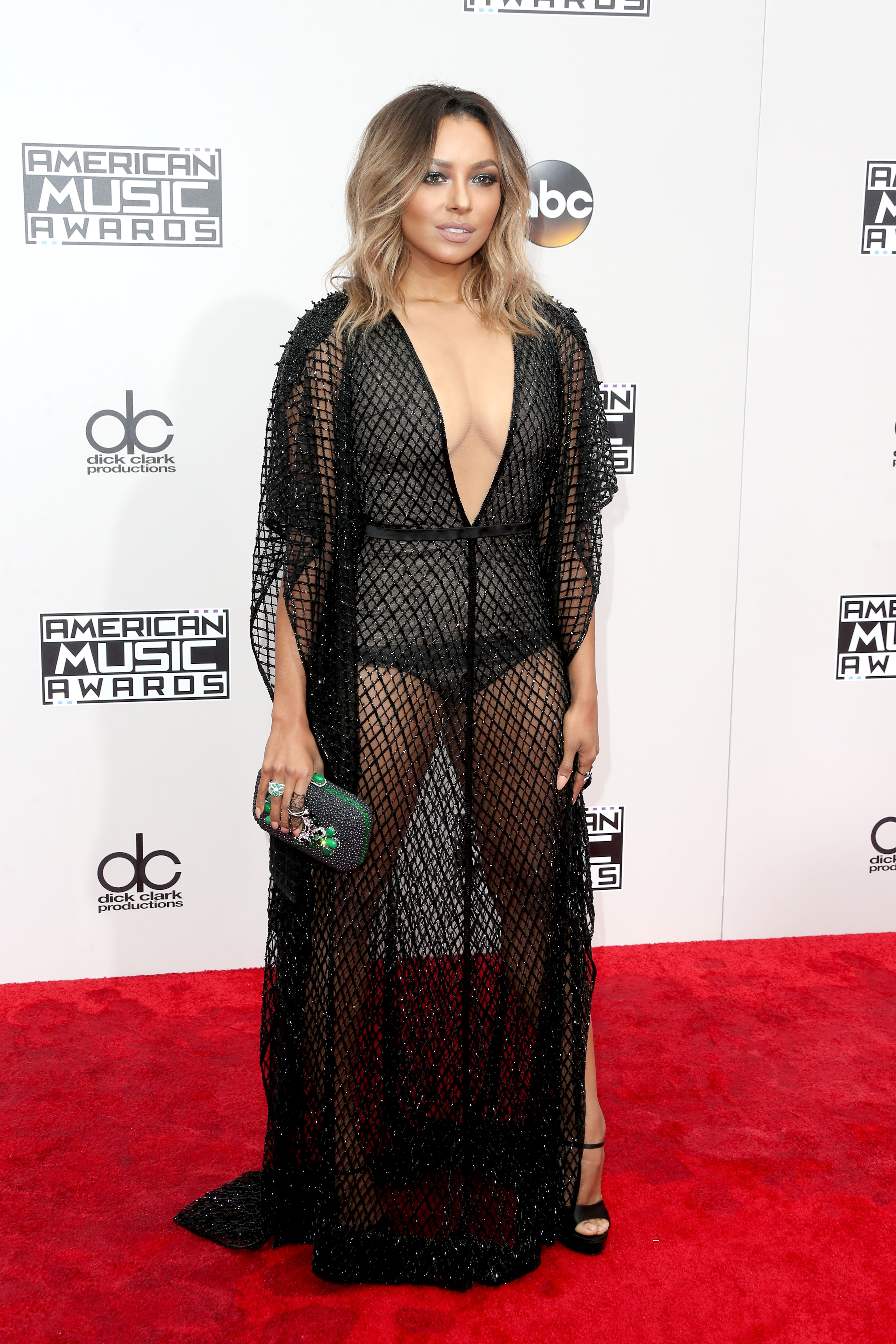 LOS ANGELES, CA - NOVEMBER 20: Actress Kat Graham attends the 2016 American Music Awards at Microsoft Theater on November 20, 2016 in Los Angeles, California. (Photo by Frederick M. Brown/Getty Images)