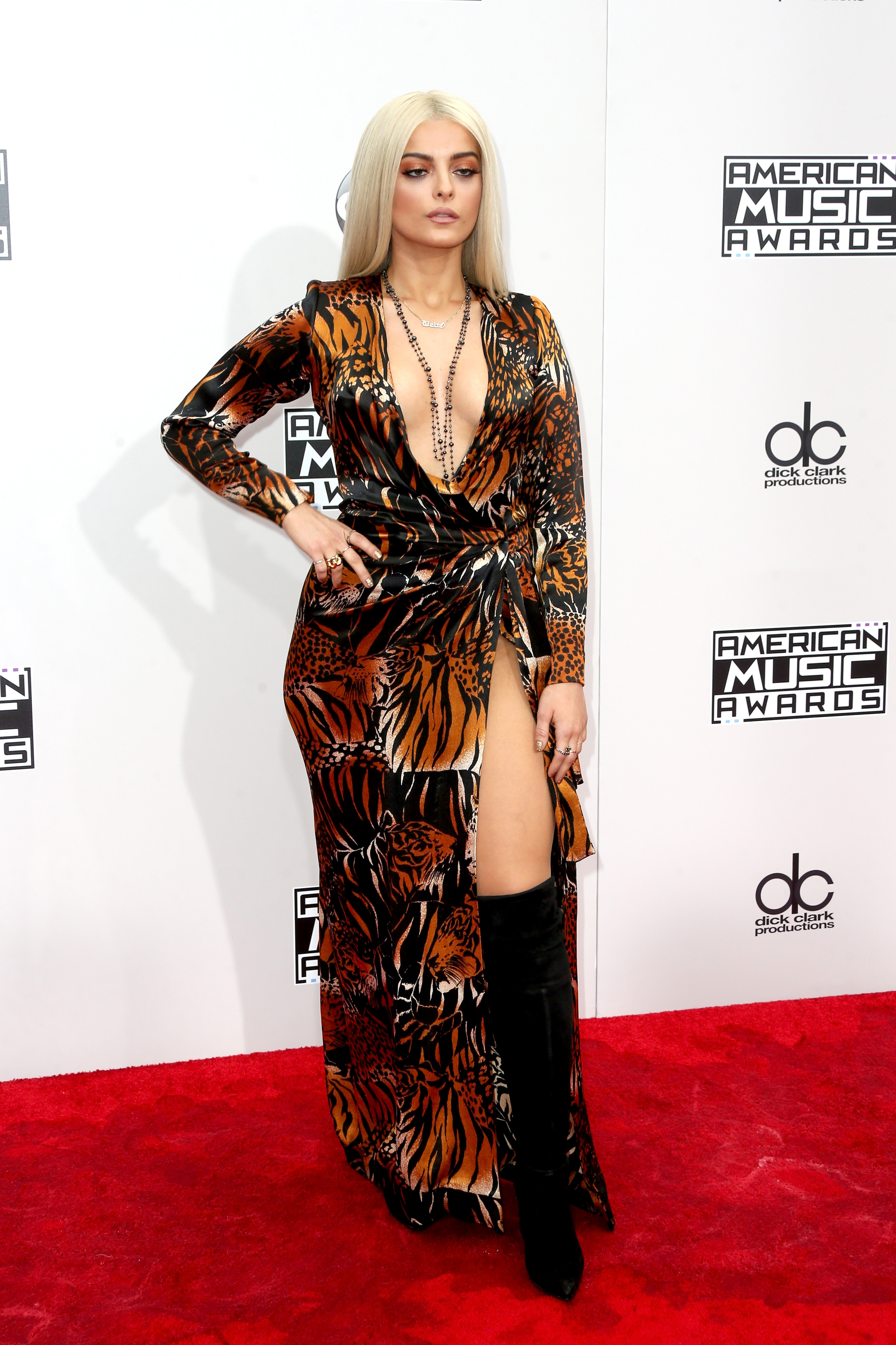 LOS ANGELES, CA - NOVEMBER 20: Singer Bebe Rexha attends the 2016 American Music Awards at Microsoft Theater on November 20, 2016 in Los Angeles, California. (Photo by Frederick M. Brown/Getty Images)