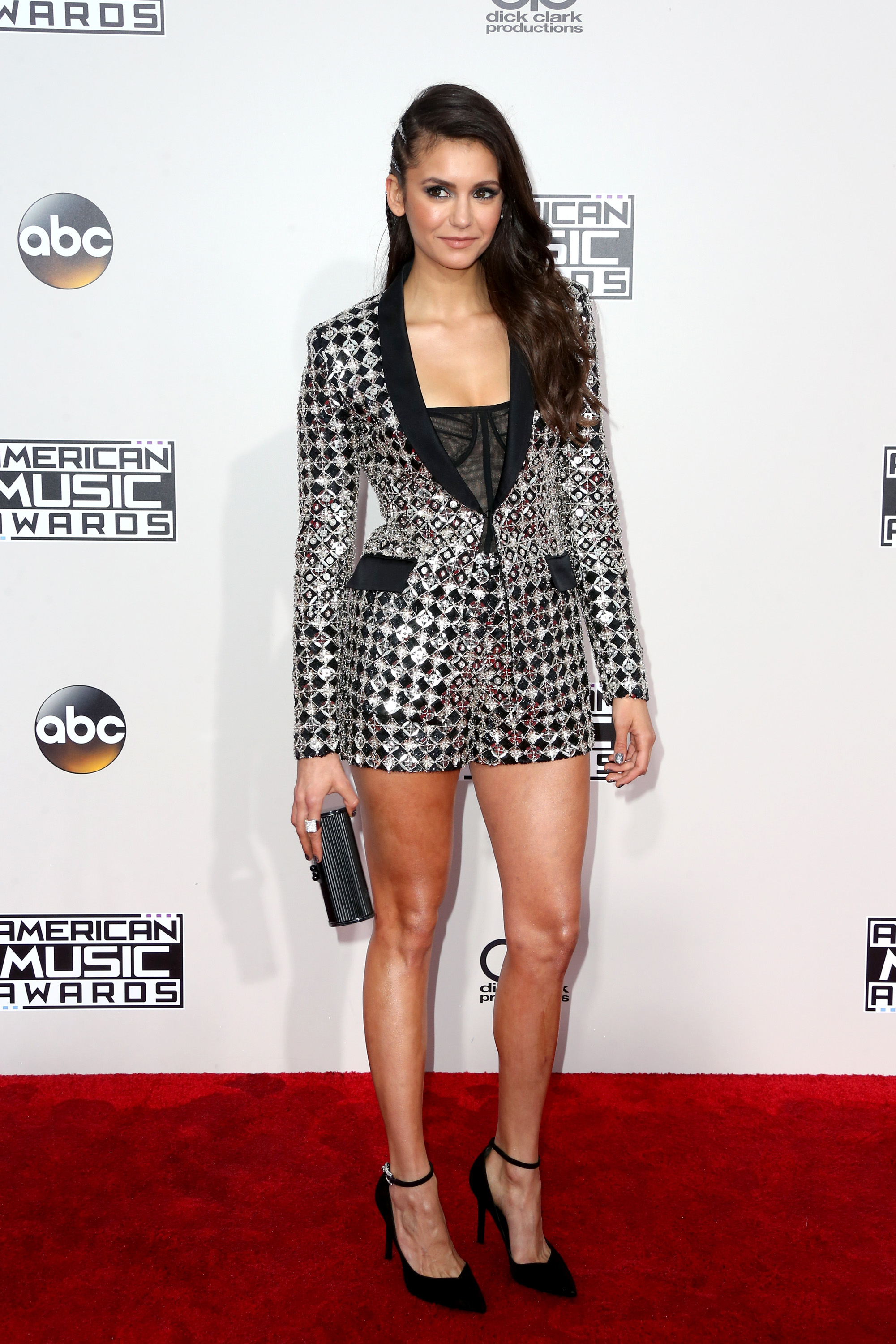 LOS ANGELES, CA - NOVEMBER 20: Actress Nina Dobrev attends the 2016 American Music Awards at Microsoft Theater on November 20, 2016 in Los Angeles, California. (Photo by Frederick M. Brown/Getty Images)