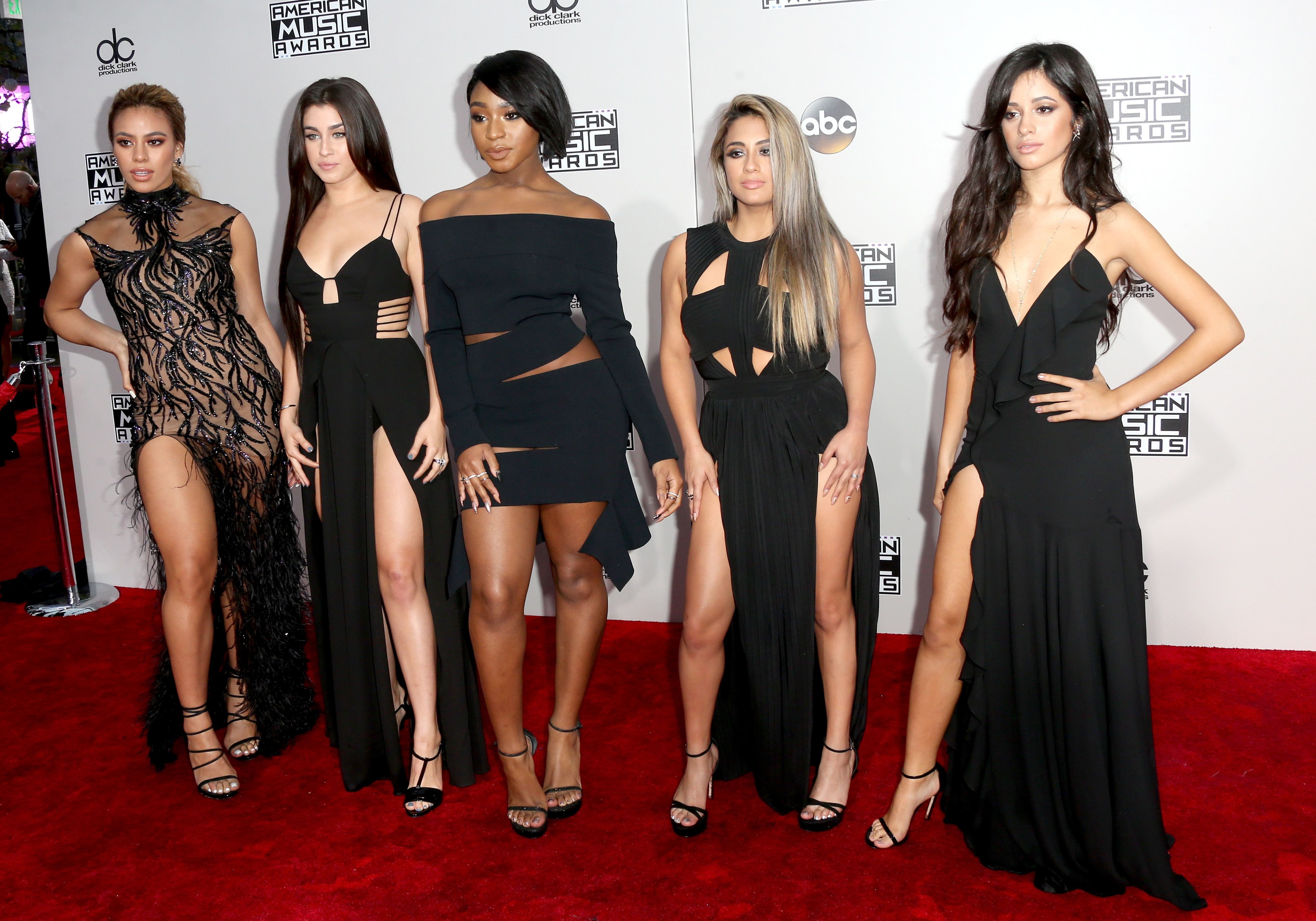 LOS ANGELES, CA - NOVEMBER 20: (L-R) recording artists Dinah Jane Hansen, Lauren Jauregui, Normani Hamilton, Ally Brooke and Camila Cabello of musical group Fifth Harmony attends the 2016 American Music Awards at Microsoft Theater on November 20, 2016 in Los Angeles, California. (Photo by Frederick M. Brown/Getty Images)