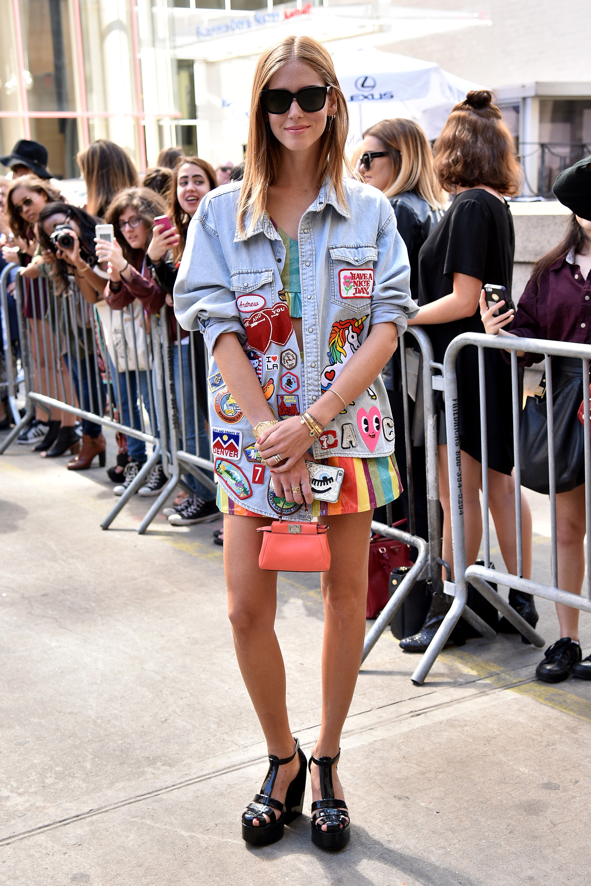 NEW YORK, NY - SEPTEMBER 14: Blogger Chiara Ferragni seen around Spring 2016 New York Fashion Week: The Shows - Day 4 on September 14, 2015 in New York City. (Photo by Bryan Bedder/Getty Images)