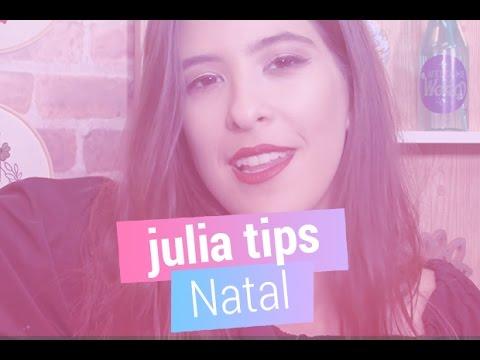 Julia Tips ensina make linda para usar no Natal