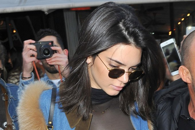 Kendall Jenner and Bella Hadid turn heads as they leave l'Avenue Restaurant