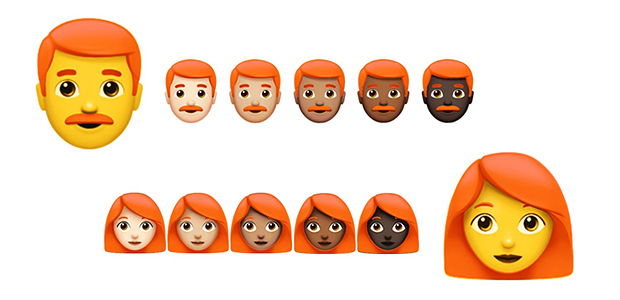 Finalmente, os emojis ruivos estão prestes a serem lançados!