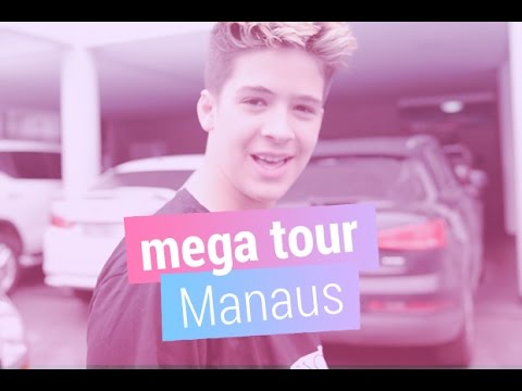 João Guilherme nos bastidores da Mega Tour em Manaus