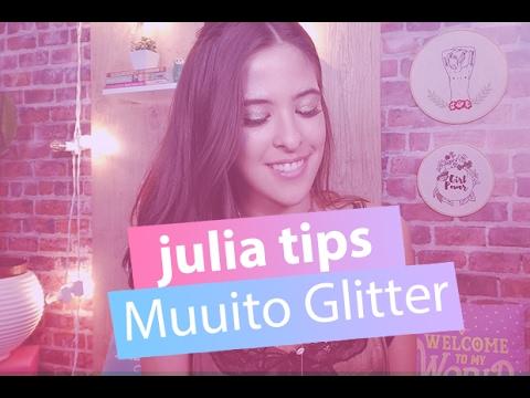 Aprenda um make com muito glitter para o carnaval