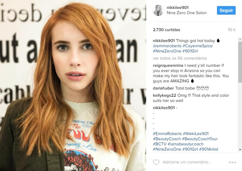 Emma Roberts cabelo ruivo
