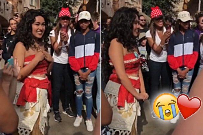 Fãs fazem serenata para Moana na Disneyland e talvez você chore
