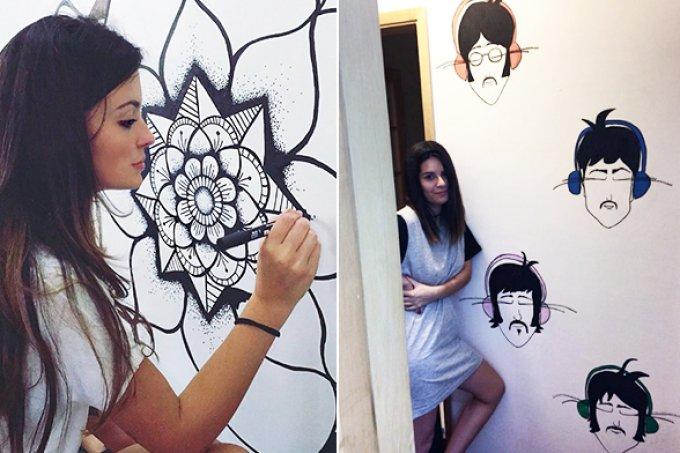 Mulheres revolucionam cenário do grafite com painéis em paredes