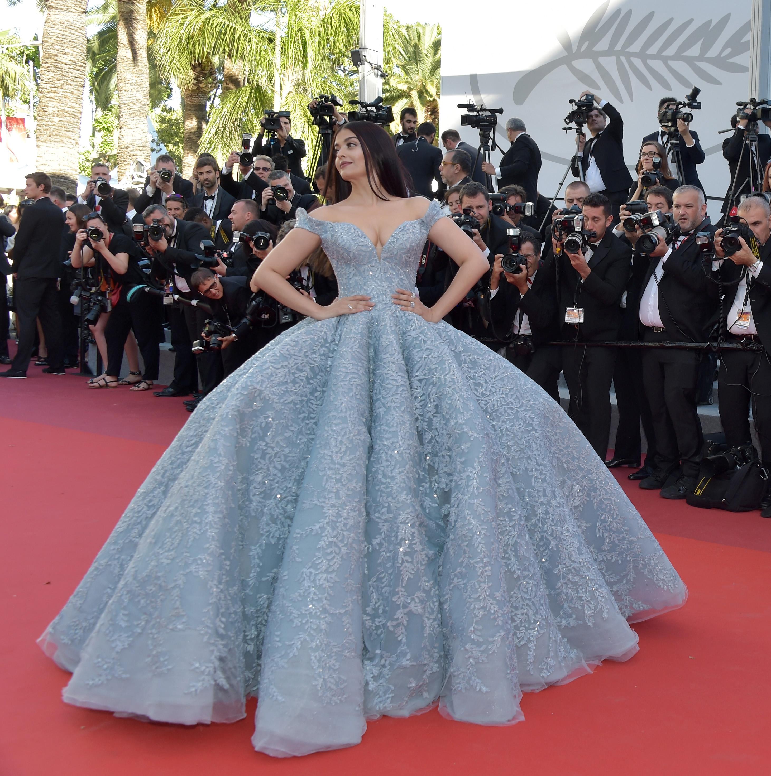 A atriz indiana Aishwarya Rai no Festival de Cannes em 2017.