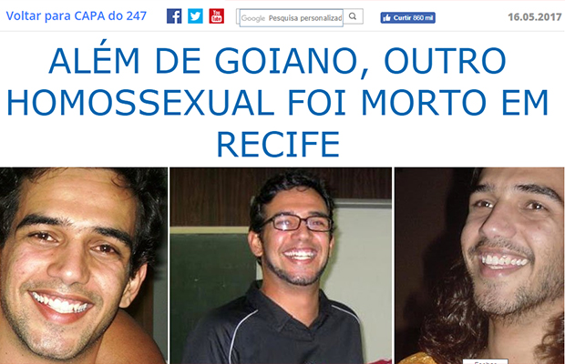 Homofobia não existe, mas a cada 25 horas um gay é morto no país
