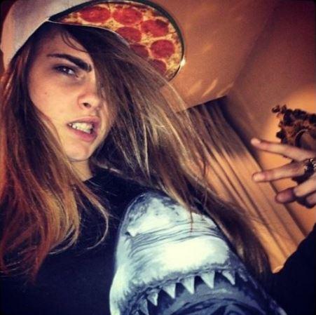 Cara Delevingne pizza
