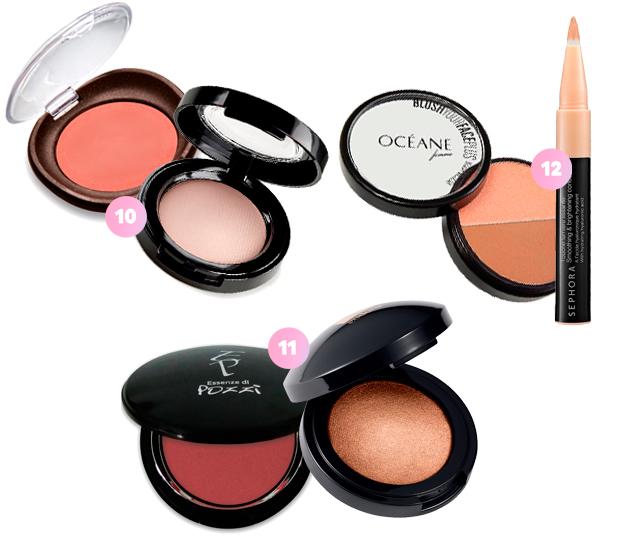 maquiagem blush iluminador