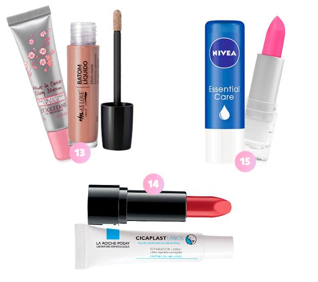 maquiagem batom hidratante labial