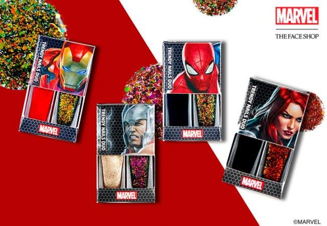Esmaltes da coleçã de maquiagem da Marvel