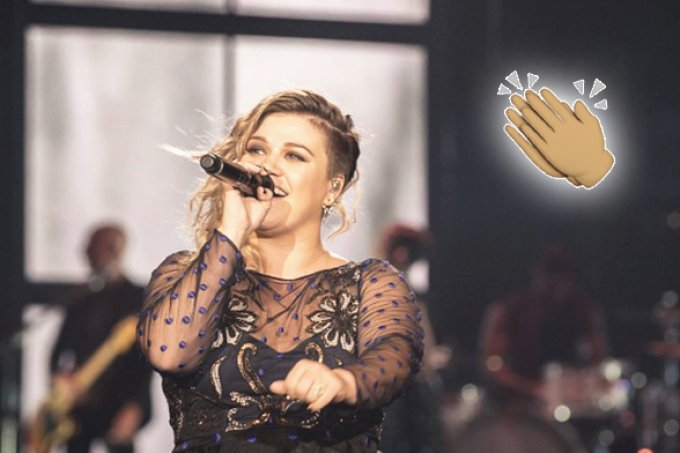 Kelly Clarkson é chamada de gorda e rebate: 'E ainda sou demais!'