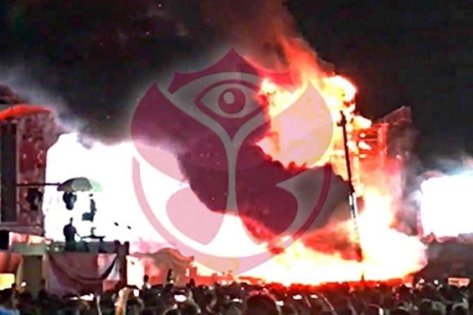 Palco do Tomorrowland da Espanha pega fogo e festival é cancelado