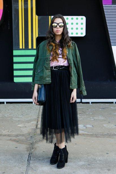 Tule, tule e mais tule! A saia da Isabella Lazzarini estava bem moderninha.