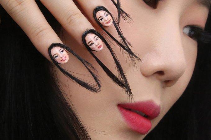 nail-art-com-cabelo