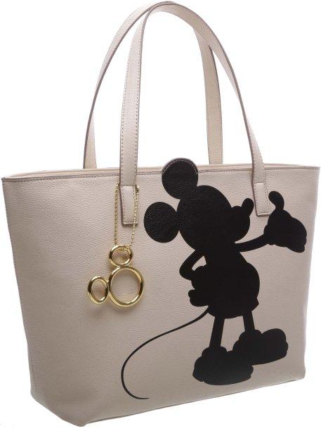 Bolsa! Esse modelo meio sacolão é muito bom para usar na escola, na faculdade... Com um Mickey fofo!