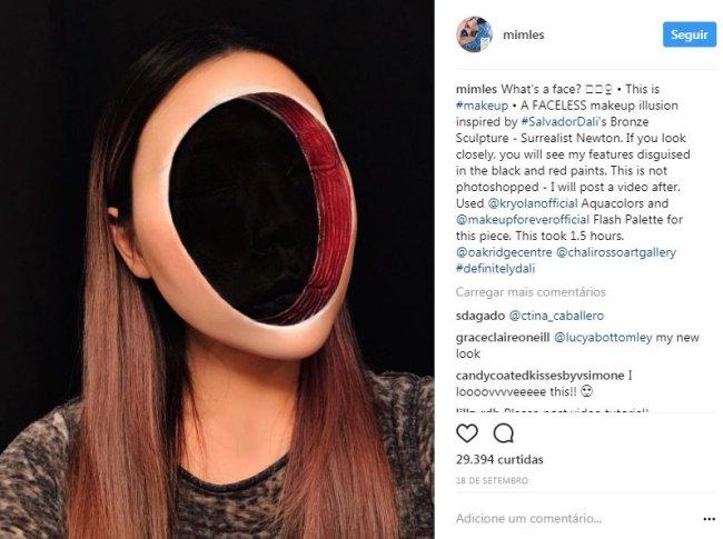 ilusão-de-ótica-maquiagem-salvador-dali