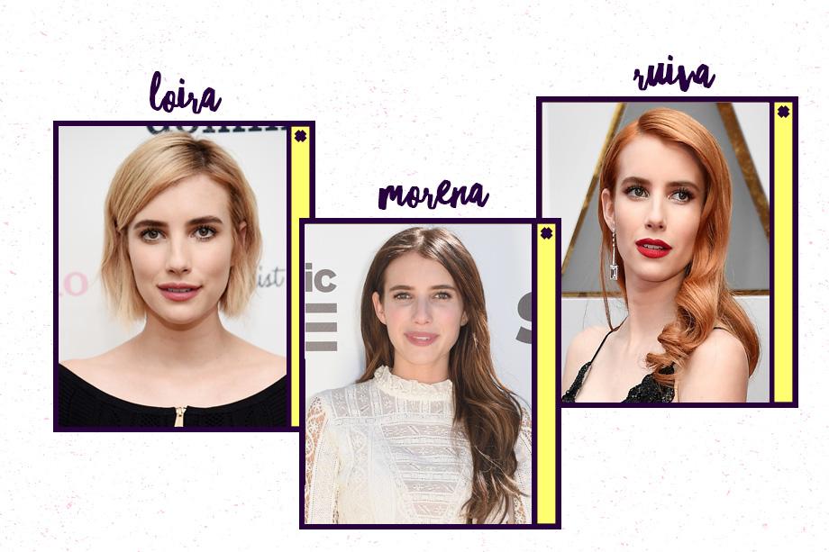 Emma Roberts está com o cabelo loiro e curto. A última vez em que ficou ruiva foi em fevereiro deste ano. Pouco tempo atrás, a atriz apostou no cabelo comprido e escuro.