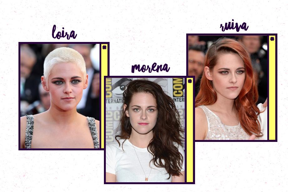 Kristen Stewart está com o cabelo curtinho e platinado. Mas é impossível pensar nela e não lembrardo castanho da Bella Swan na Saga Crepúsculo, né? Um de seus momentos ruivos rolou em 2010, durante as gravações do filme American Ultra.
