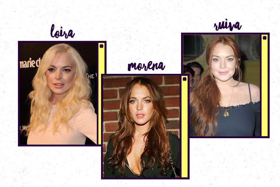Lindsay Lohan é uma das ruivas mais famosas de Hollywood (oi, <em>Meninas Malvadas e Operação Cupido!</em>)! Mas quem disse que ela também não arrasa com fios loiríssimos ou castanhos?