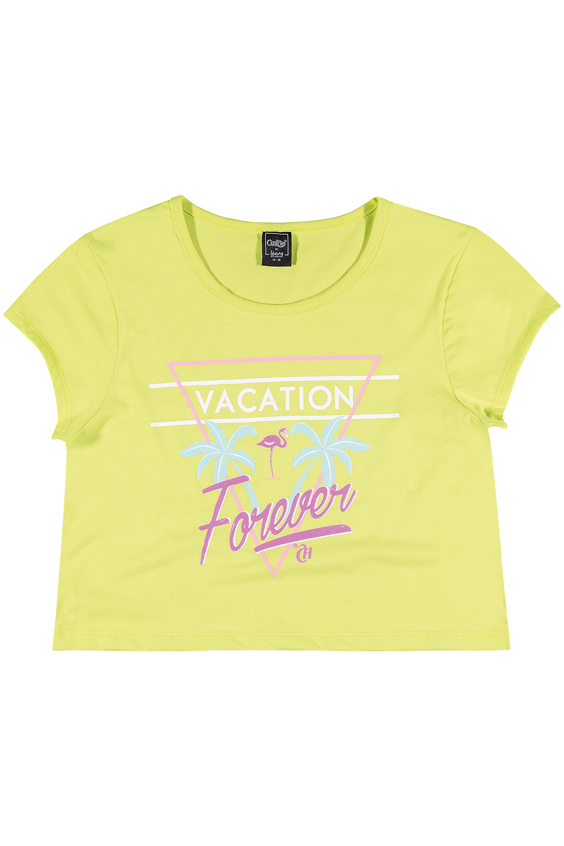 Cropped Vacation Forever verde CAPRICHO para Young Class