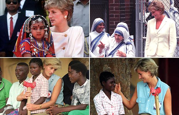 Lady Di em viagens humanitárias