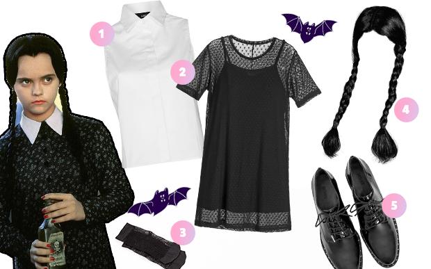 fantasia halloween vestido preto 2