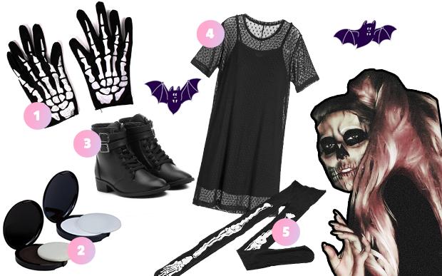 fantasia halloween vestido preto 3