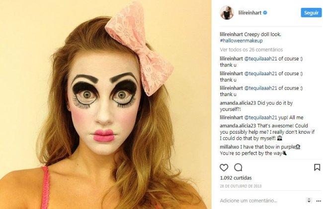 lili-reinhart-boneca-maquiagem-de-halloween
