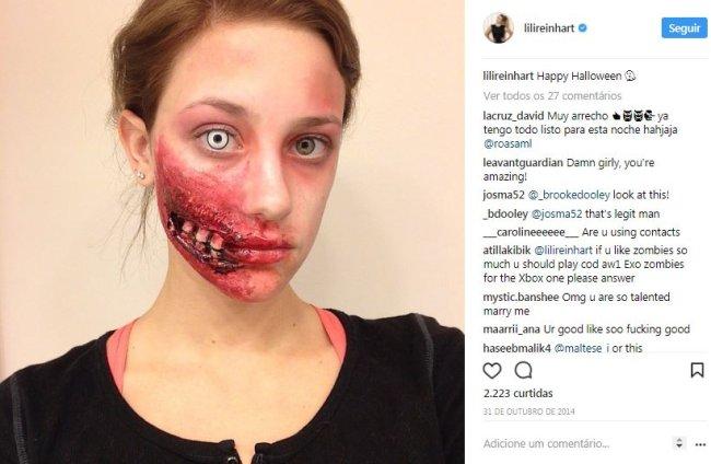 lili-reinhart-maquiagem-artística-halloween