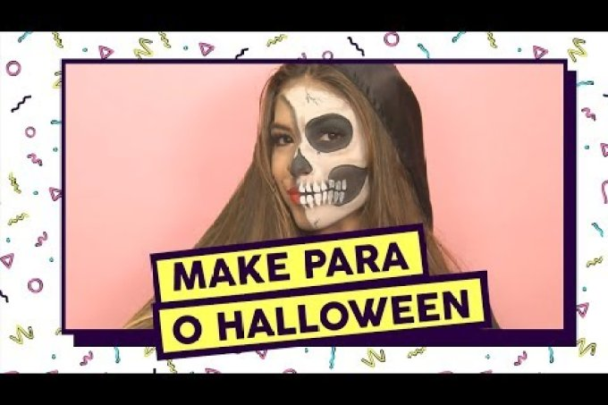 Plantão da Beleza: tutorial de make de caveira para o Halloween