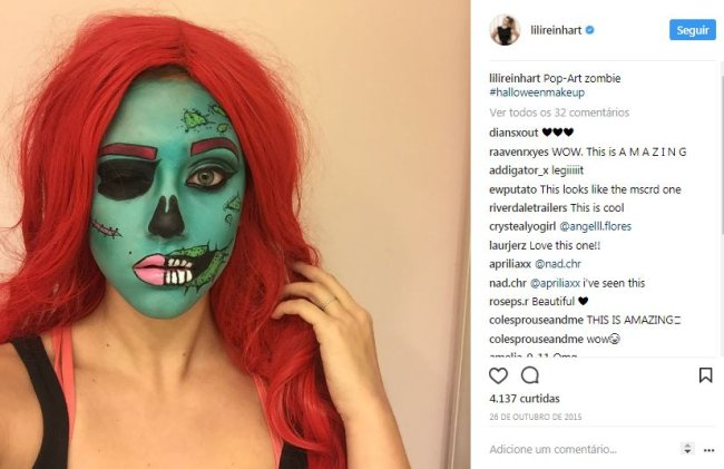 zumbi-maquiagem-halloween-lili-reinhart
