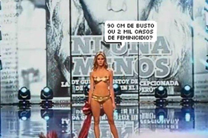 Miss Peru cita taxas de feminicídio ao invés de medidas do corpo