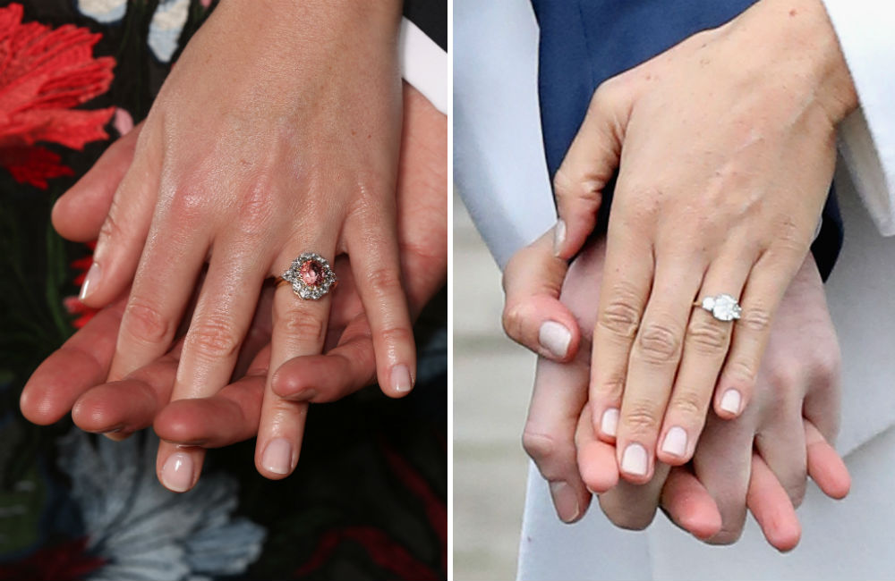 anel-de-noivado-princesa-eugenie-vs-meghan-markle
