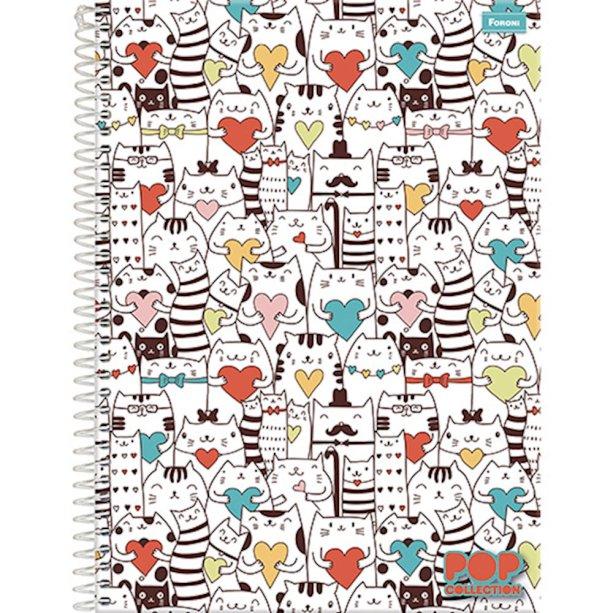 Caderno universitário 96 folhas Foroni (R$ 8,90*).
