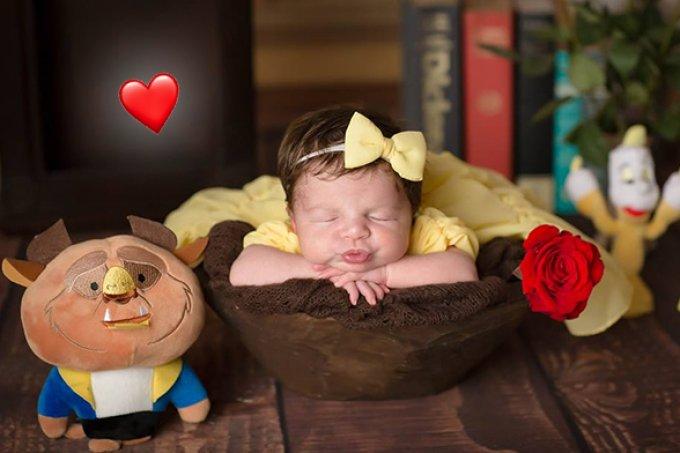 Bebês viram Princesas da Disney em ensaio pra lá de fofo!